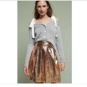Anthropologie Moulinette Soeurs Rose Gold Skirt M